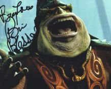 Brian Blessed Autograph Signed Photo - Boss Nass